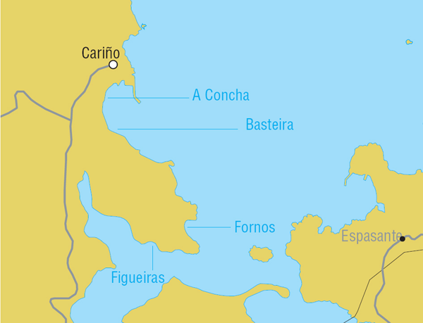 Beaches close to Cariño