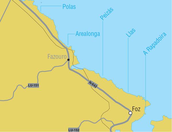 Playas en Foz
