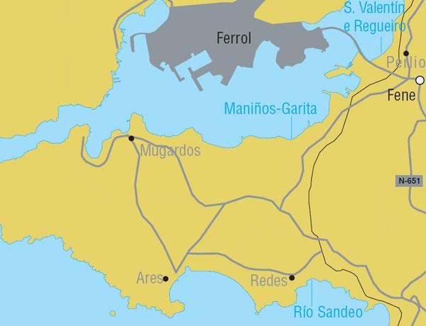 Praias Cercanas a Ferrol