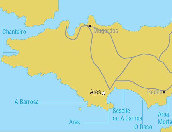 Praias Cercanas a Ares