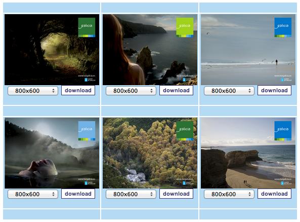 Galicia on your desktop