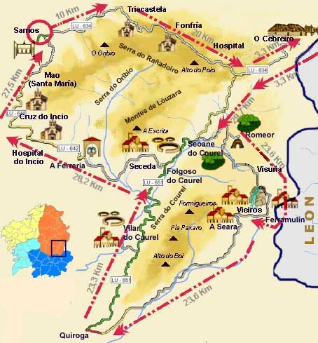 3 day route: O Courel