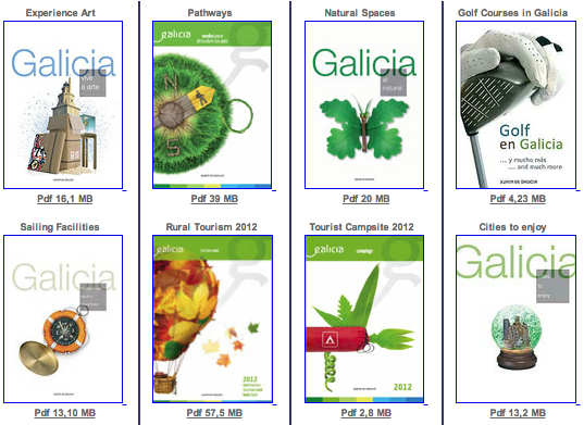 Brochures about Galicia